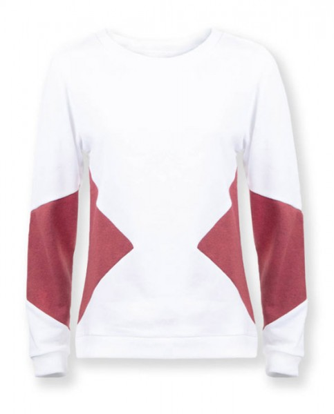 "Sweater ""Triangle"" - weiss"