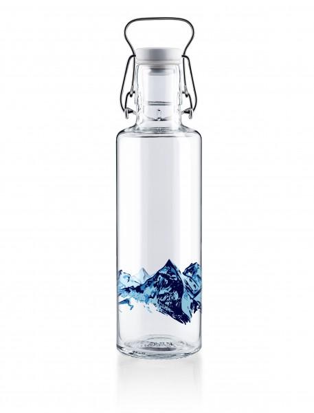 """Glas-Trinkflasche 0,6 Liter, """"Alpenblick"""""""