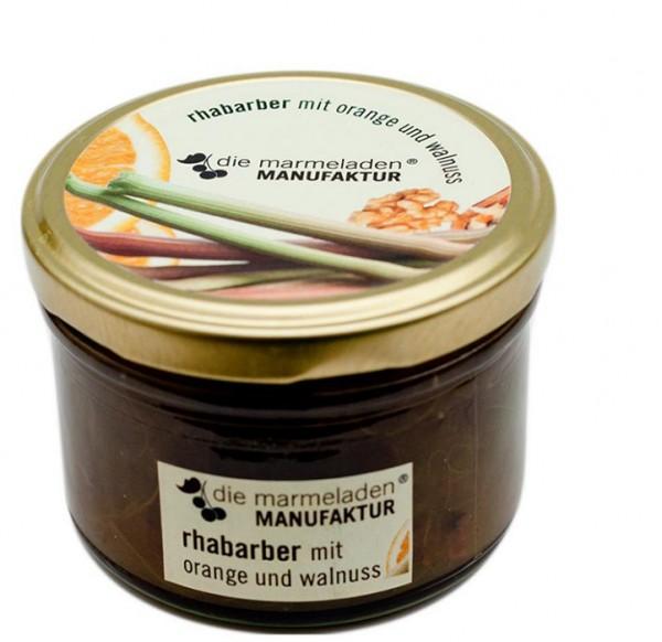 Rhabarber mit Orange und Walnuss, 170 g