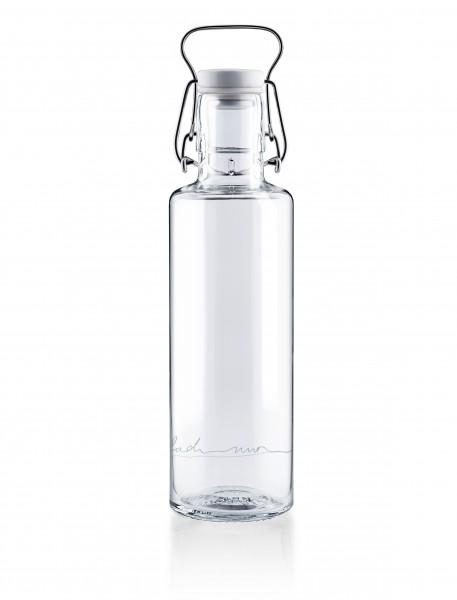 """Glas-Trinkflasche 0,6 Liter, """"Einfach nur Wasser"""""""