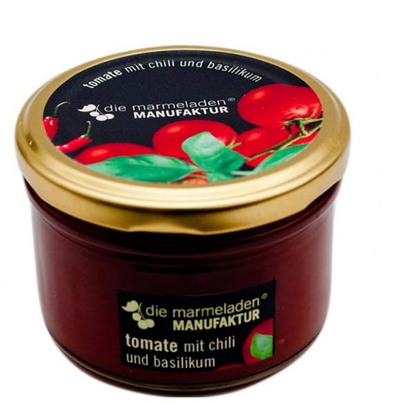Tomate mit Chili und Basilikum, 160 g