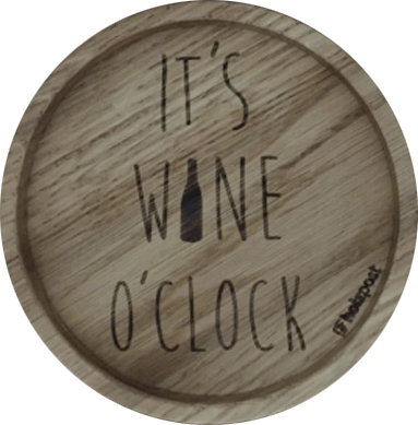 "Untersetzer ""Wine O´Clock"""
