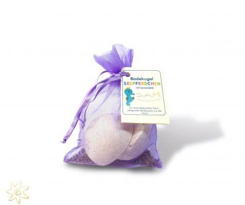 """S.A.M. Baby & Kinder Badekugel """"Seepferdchen"""" mit Lavendelduft (120 g Kugel)"""